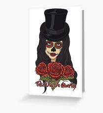 TopHat La Catrina - Dia De Los Muertos Greeting Card