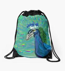Peacock Drawstring Bag