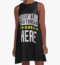 Have No Fear The Sao Tomean Is Here - Sao Tome And Principe Flag Gift for Sao Tomean A-Line Dress