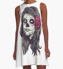 La Catrina - Dia De Los Muertos A-Line Dress