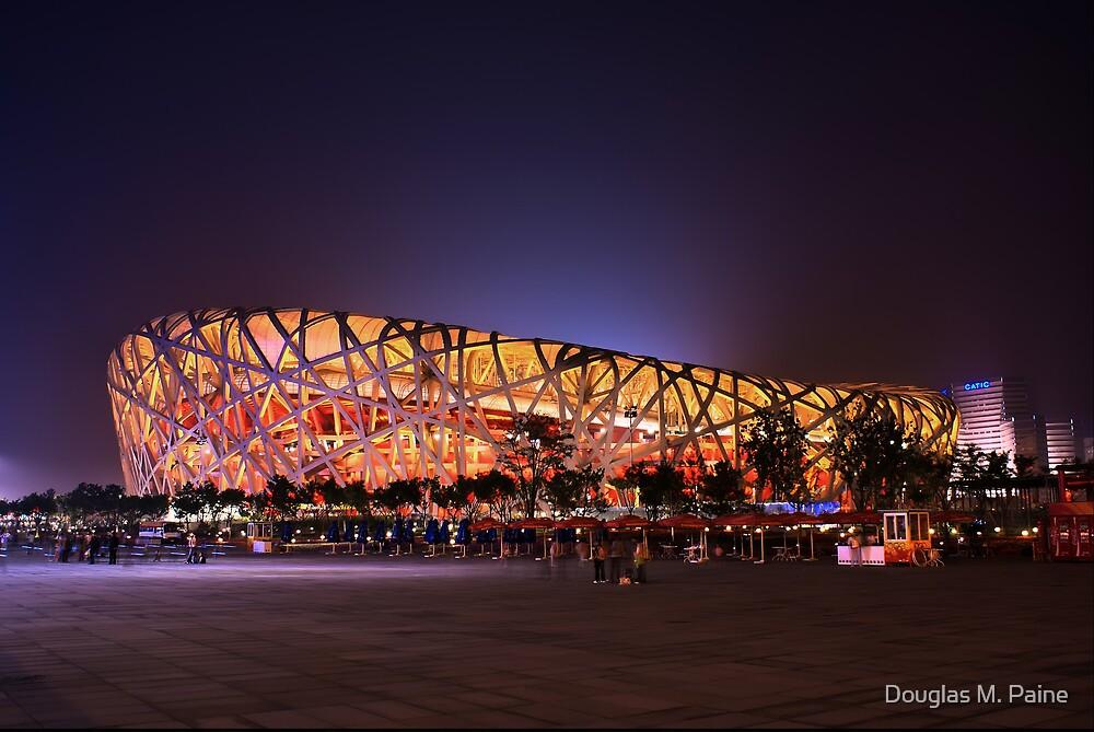 Beijing's Bird Nest Stadium - South side by Douglas M. Paine