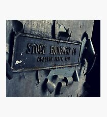 Stock Equipment Photographic Print