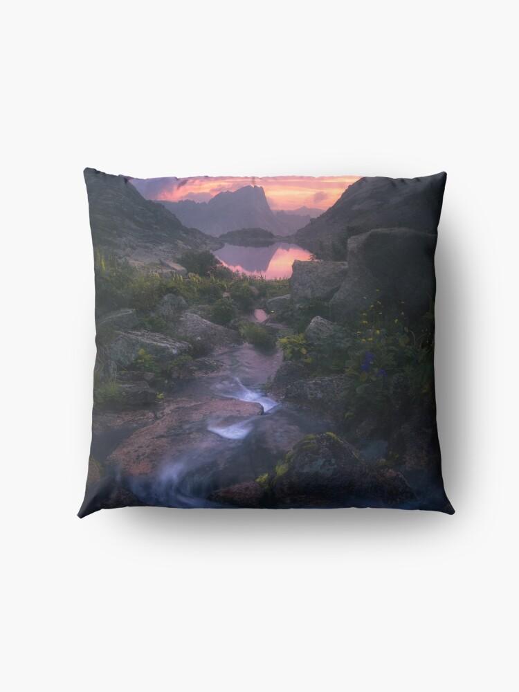 Alternate view of Stream of Mountain Spirits Floor Pillow
