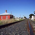 Train Track not too far from Tamworth, Northern NSW. Australia by Bev Pascoe
