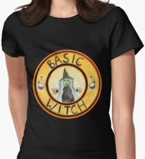 Basic Witch Halloween Pumpkin Spice Latte Women's Fitted T-Shirt