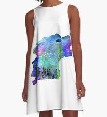 Galaxy wolf A-Line Dress