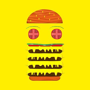 Funny Big BURGER With Cheese by saadkh
