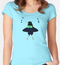 Bop the Ballerina Bird Women's Fitted Scoop T-Shirt