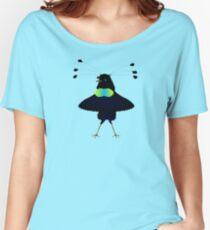 Bop the Ballerina Bird Women's Relaxed Fit T-Shirt