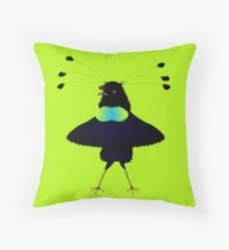 Bop the Ballerina Bird Throw Pillow