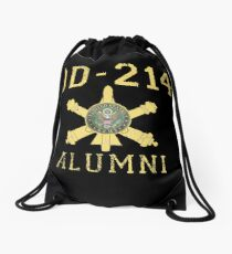 U.S. Army Veteran Christmas Gift Military Air Defense DD-214 Retired Drawstring Bag