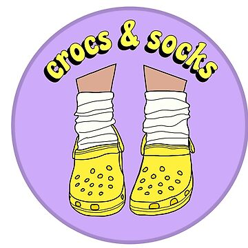 Yellow Crocs and Socks by abbyconnellyy