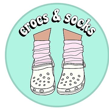 White Crocs and Socks by abbyconnellyy