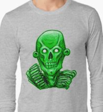 Zombie Skull Head Green T-Shirt