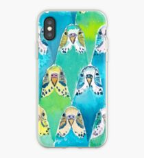 Aquarell Wellensittiche iPhone-Hülle & Cover