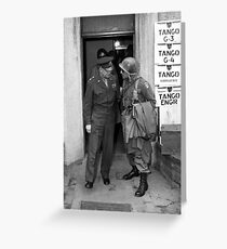 General Eisenhower and General Ridgway -- WWII Greeting Card