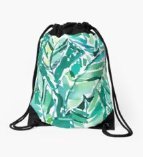 BANANA LEAF JUNGLE Drawstring Bag
