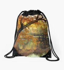 Golden Slumber Drawstring Bag
