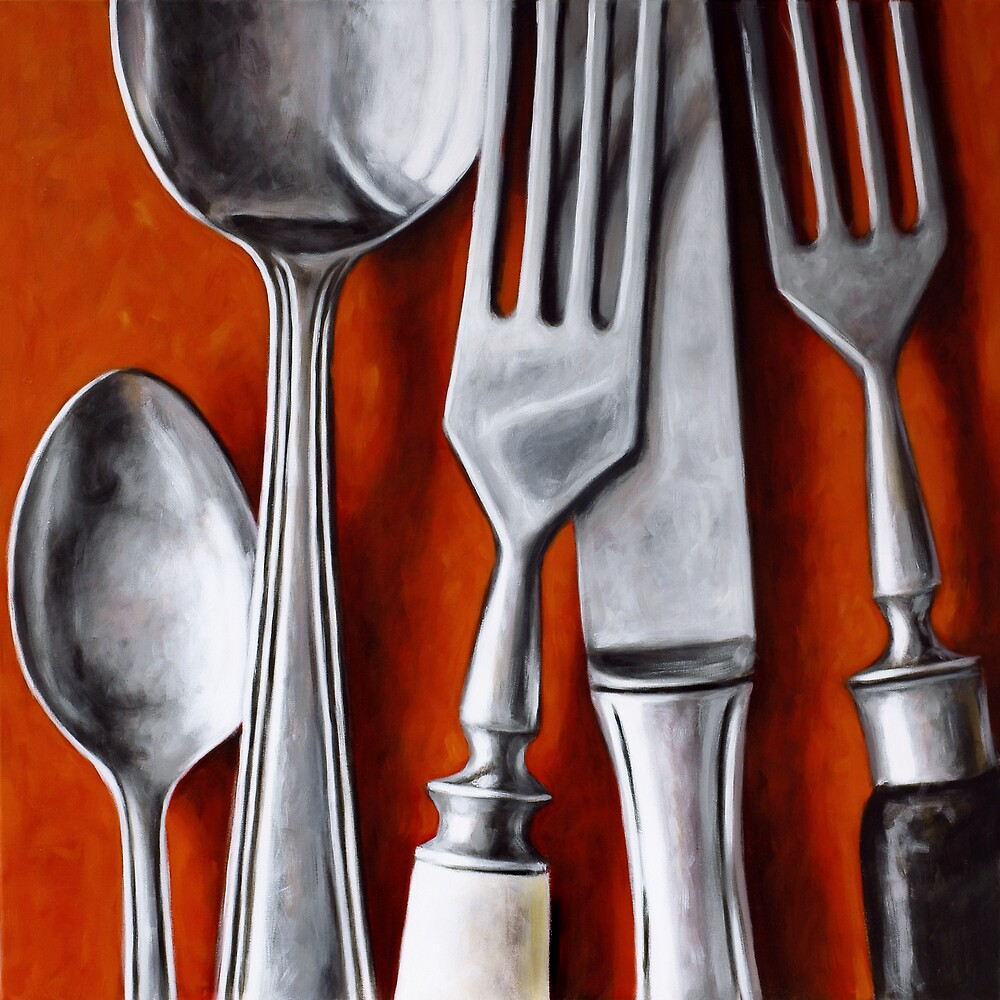 Kitchen Cutlery Wall Art