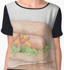 Hotdog lover Chiffon Top