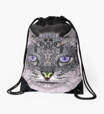 carnaval cat Drawstring Bag