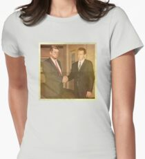 When Kennedy Met Oswald — Dec '62 Women's Fitted T-Shirt