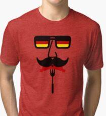 Germany Mustache Octoberfest Tri-blend T-Shirt