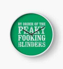 By Order of The Peaky Fooking Blinders Peaky Blinders T-Shirt Clock