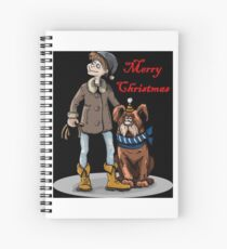 newfoundland merry christmas Spiral Notebook
