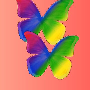 Rainbow Butterflyes by elive