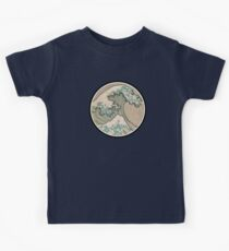 The great wave - Awesome Round design Kids Clothes