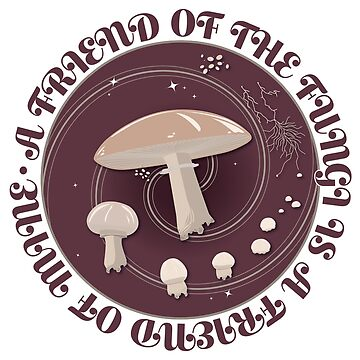 A Friend of the Fungi is a Friend of Mine, Mushroom Life Cycle design. by Olivia-Grimley