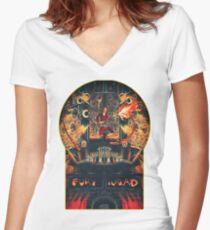 Doof Warrior Women's Fitted V-Neck T-Shirt