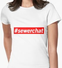 Hashtag Sewerchat Women's Fitted T-Shirt