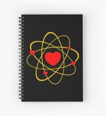 Atoms heart love positive energy Spiral Notebook