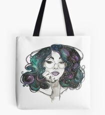 Cosmic Curls Design Tote Bag
