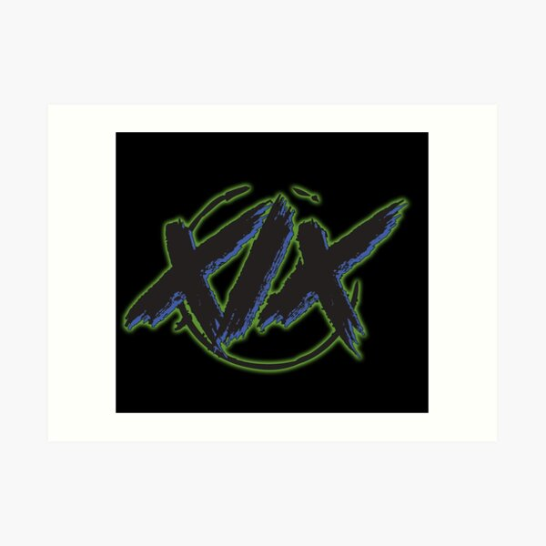 XIX 1 Green Art Print