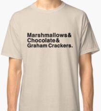 Marshmallows & Chocolate & Graham Crackers (light shirts) Classic T-Shirt