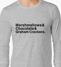 Marshmallows & Chocolate & Graham Crackers (light shirts) Long Sleeve T-Shirt