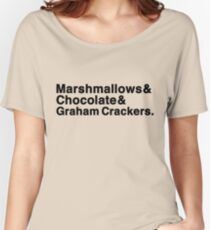 Marshmallows & Chocolate & Graham Crackers (light shirts) Women's Relaxed Fit T-Shirt