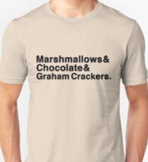 Marshmallows & Chocolate & Graham Crackers (light shirts) Unisex T-Shirt