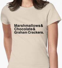 Marshmallows & Chocolate & Graham Crackers (light shirts) Women's Fitted T-Shirt