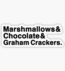 Marshmallows & Chocolate & Graham Crackers (light shirts) Sticker