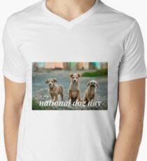 National Dog Day V-Neck T-Shirt
