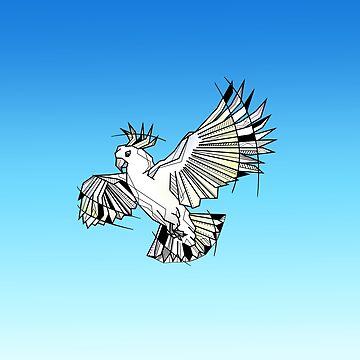 Geometric cockatoo by piedaydesigns