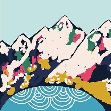 Montañas nevadas de smalltownnc