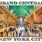 Grand Central Rush Souvenir Poster edition (on white) by Ray Warren