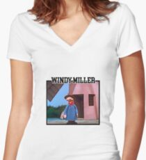 Camberwick Green Windy Miller Women's Fitted V-Neck T-Shirt
