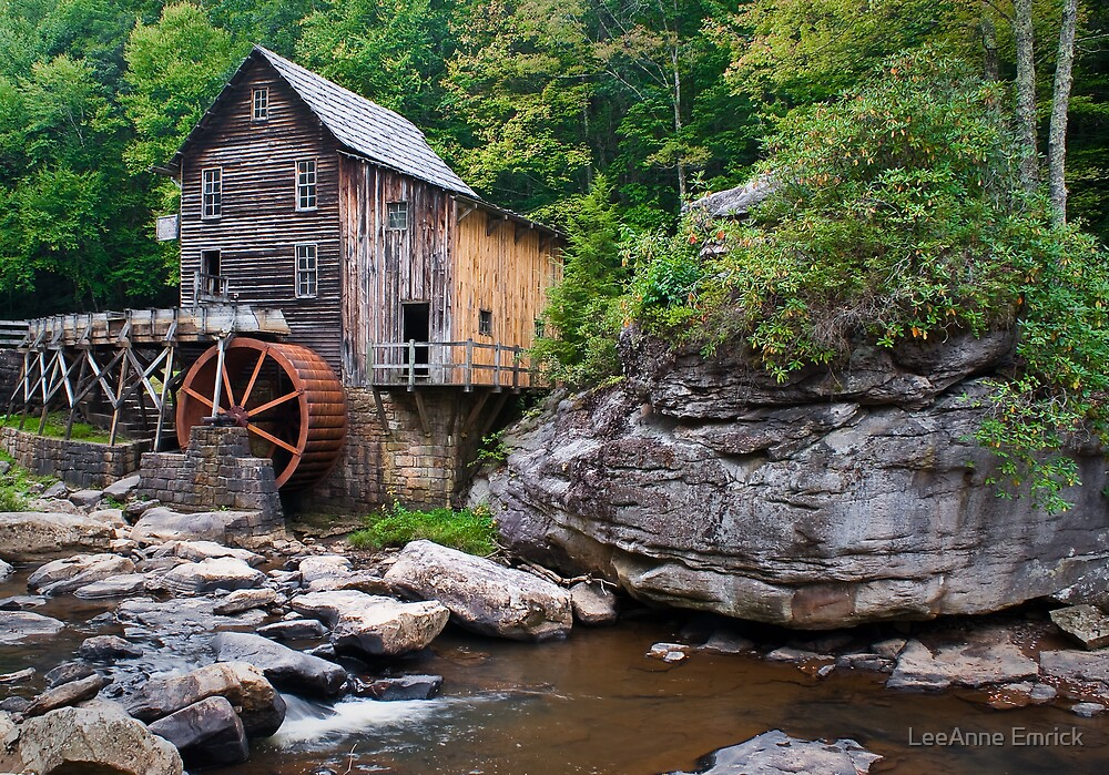 Grist Mill at Babcock State Park by LeeAnne Emrick
