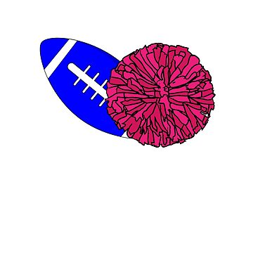 Football Or Pom Poms Mom T-shirt by 3familyllc